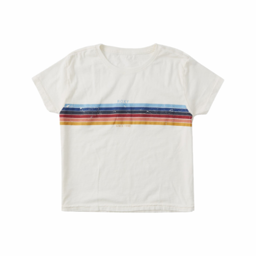 Polera Roxy Niña (7 - 14 años) Always Stripes Snow White