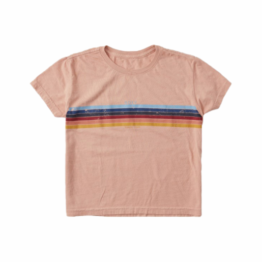 Polera Roxy Niña (7 - 14 años) Always Stripes Cafe Creme