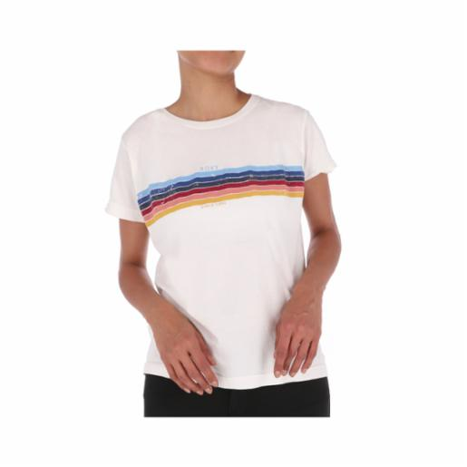 Polera Roxy Always Stripes Snow White