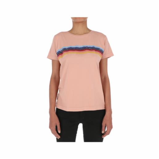 Polera Roxy Always Stripes Cafe Creme