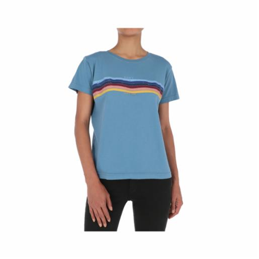 Polera Roxy Always Stripes Blue Heaven
