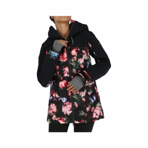 Parka Roxy Stated True Black Blooming Party
