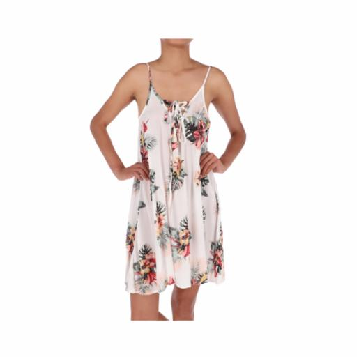 Vestido Roxy Softly Love Bright White Tropical Nights